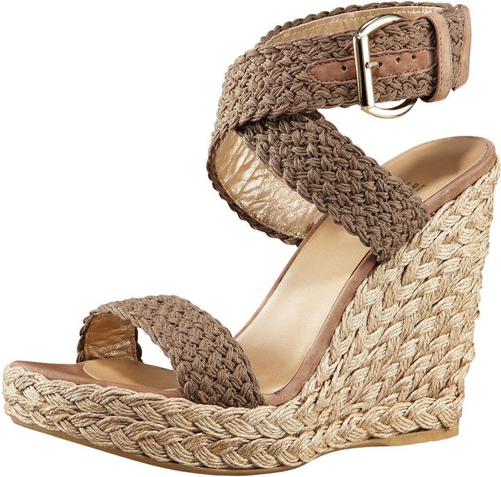 Alex Crocheted Ankle-Wrap Espadrille