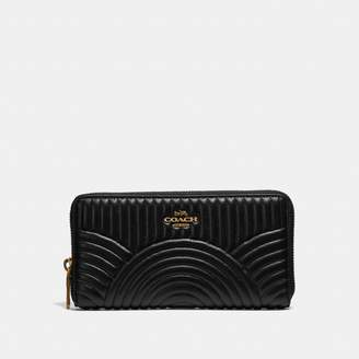 Coach Accordion Zip Wallet With Deco Quilting