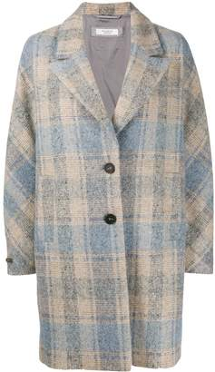 Peserico check-print single-breasted coat