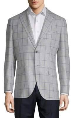 Lubiam Window Wool & Silk Sportcoat