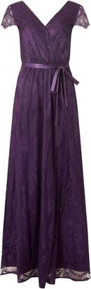 Dorothy Perkins Womens **Showcase Purple Lace Maxi Dress