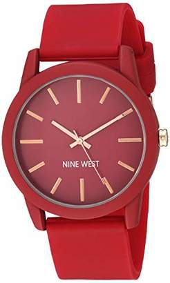 Nine West Women's NW/2140BYBY Silicone Strap Watch