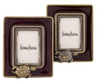 Jay Strongwater Pair of Turtle Picture Frames gold Pair of Turtle Picture Frames