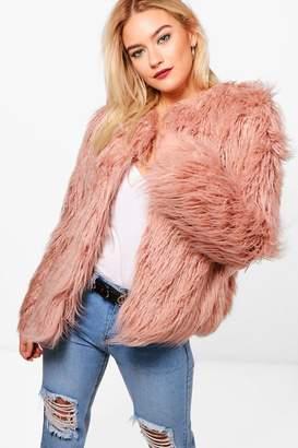 boohoo Mongolian Faux Fur Coat