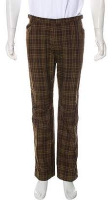 Burberry Nova Check Flat Front Pants brown Nova Check Flat Front Pants