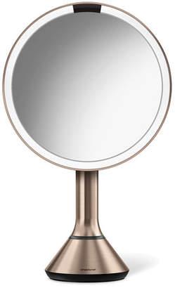 """Simplehuman 8"""" Sensor Makeup Mirror with Brightness Control, Rose-Tone"""