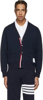 Thom Browne Navy V-Neck Cardigan $690 thestylecure.com