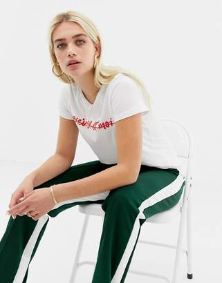 Noisy May organic slogan t-shirt