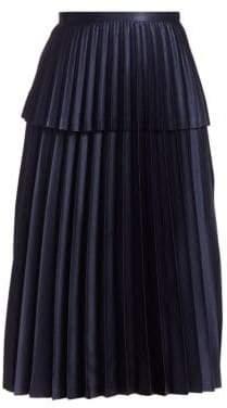Noir Kei Ninomiya Satin Pleated A-Line Skirt