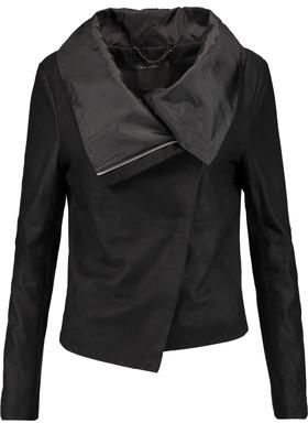 Muubaa Sinoia Draped Leather Jacket $495 thestylecure.com