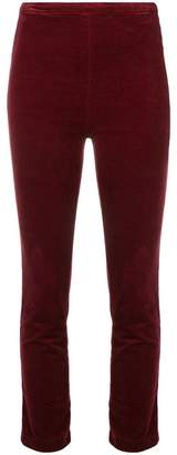 J Brand velvet cropped trousers