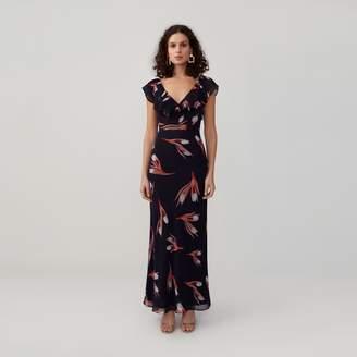 Fame & Partners Pleated Ruffle Dress