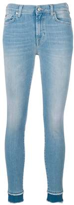 7 For All Mankind 7stretch contrast hem skinny jeans