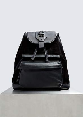 Hopper Suede and Leather Backpack