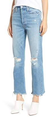 Mother The Tripper Ripped Ankle Flare Jeans