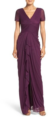 Women's Adrianna Papell Draped Mesh Gown $199 thestylecure.com
