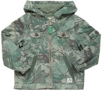 Jungle Printed Nylon Windbreaker Jacket