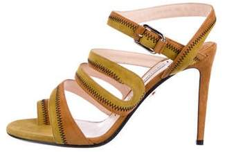 Andrea Gomez Suede Ankle-Strap Sandals