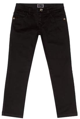 Versace Straight-leg cotton jeans