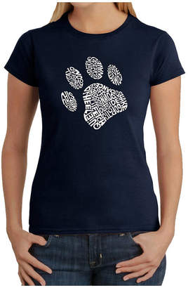 LOS ANGELES POP ART Los Angeles Pop Art Dog Paw Graphic T-Shirt
