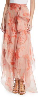 Johanna Ortiz Sparkling Sand Organza Ruffled Skirt