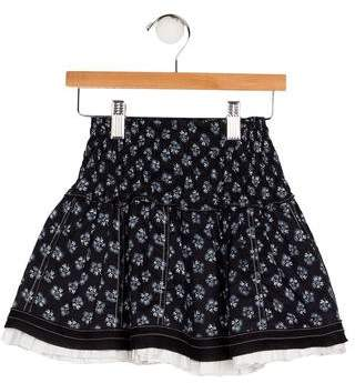 Emile et Ida Girls' Printed Flared Skirt
