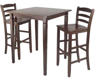 Winsome 3-Pc Kingsgate High/Pub Dining Table with Ladder Back High Chair