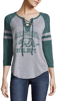 Freeze California Lace Up Baseball Tee - Juniors