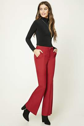 Forever 21 Flared Woven Trousers