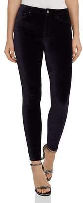 Reiss Lux Skinny Velvet Jeans in Ink