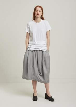 Comme des Garcons Wool Twill Formal Wide Leg Cropped Pants
