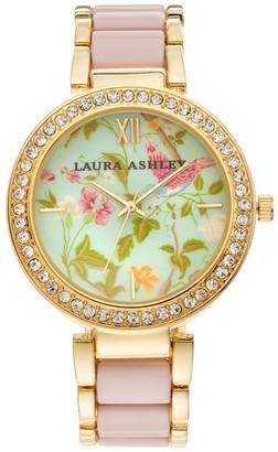 Laura Ashley Lifestyles Women's Crystal Watch