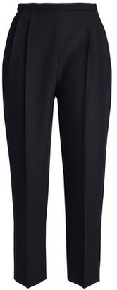 DELPOZO Cropped Wool And Silk-Blend Tapered Pants