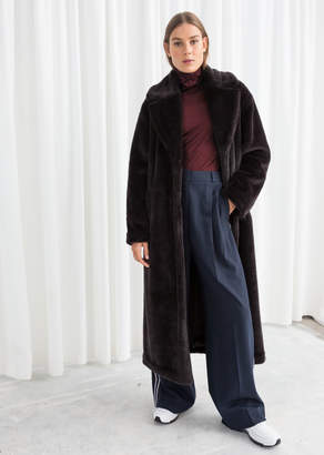 2ed820228c And other stories Long Faux Fur Coat