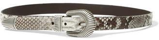 Andersons Anderson's - Python Belt - Beige