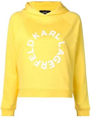 Karl Lagerfeld circle logo hoodie