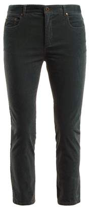 Miu Miu Skinny Corduroy Trousers - Womens - Grey