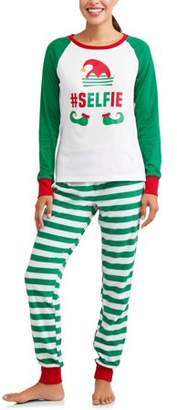Family Pjs Holiday Elf Selfie Pajamas, 2-piece Set (Women's)