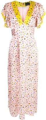 Cynthia Rowley Pamela flutter sleeve maxi dress