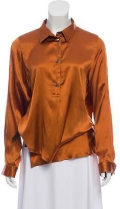 Ann Demeulemeester Silk Button-Up Top