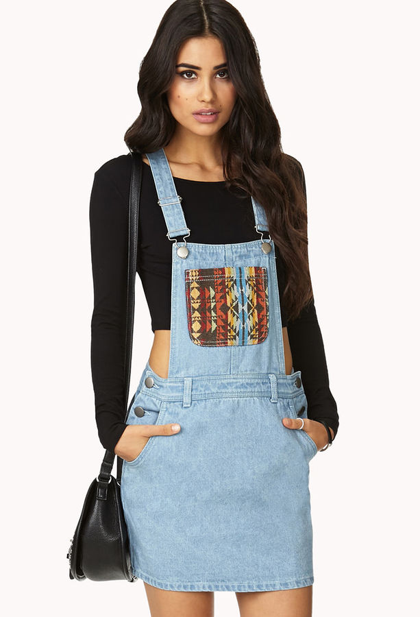 Forever 21 Out West Overall Dress