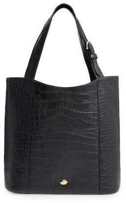 Brahmin Savannah - Brayden Embossed Leather Tote - Black $325 thestylecure.com