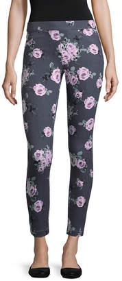 UTOPIA BY HUE Utopia By Hue Floral Print Denim Leggings