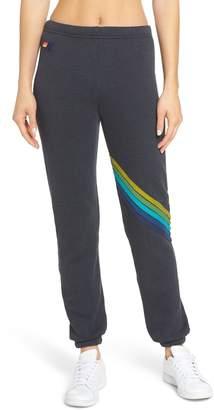 Aviator Nation Chevron Stripe Sweatpants