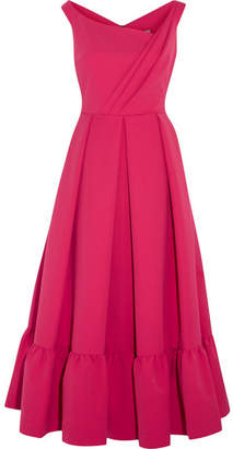 Preen by Thornton Bregazzi - Palmer Pleated Stretch-crepe Midi Dress - Fuchsia $1,140 thestylecure.com