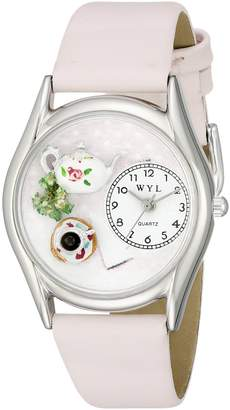 Whimsical Watches Women's S0310003 Tea Roses Pink Leather Watch