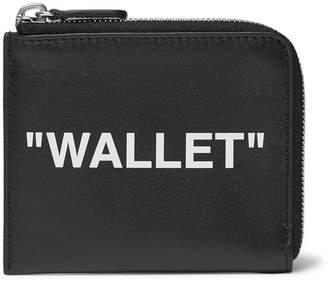 Off-White Off White Printed Leather Zip-Around Wallet - Black