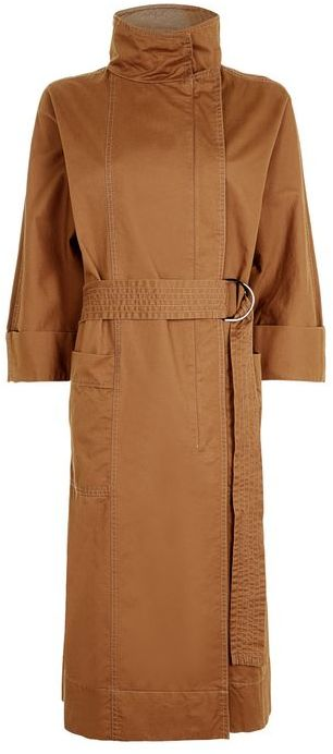 TopshopTopshop '80s funnel neck trench coat