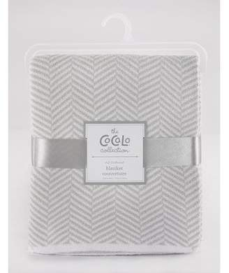 CoCalo Voile Separates Herringbone Knitted Blanket Color: Gray