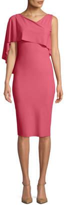 Chiara Boni Jahira Asymmetric Draped Sheath Dress